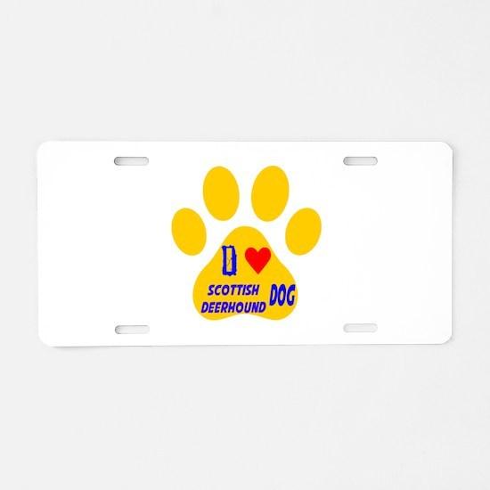 I Love Sealyham Terrier Dog Aluminum License Plate