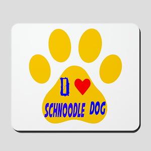 I Love Schnoodle Dog Mousepad