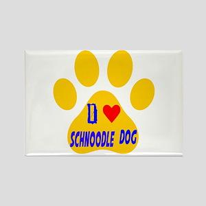 I Love Schnoodle Dog Rectangle Magnet