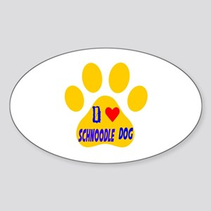 I Love Schnoodle Dog Sticker (Oval)
