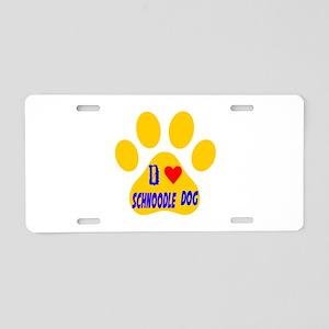 I Love Schnoodle Dog Aluminum License Plate
