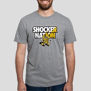 Wichita State Shocker Natio Mens Tri-blend T-Shirt