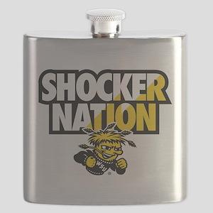 Wichita State Shocker Nation Flask