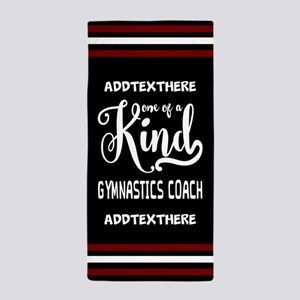 Personalized Gift for Gymnastics Coach Beach Towel