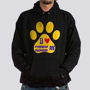 I Love Pyrenean Shepherd Dog Hoodie (dark)