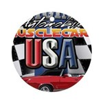 usa musclecars Round Ornament