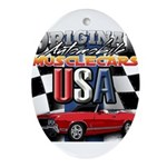 usa musclecars Oval Ornament