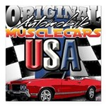usa musclecars Square Car Magnet 3