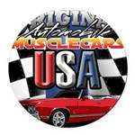 usa musclecars Round Car Magnet