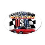 usa musclecars Oval Car Magnet