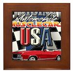 usa musclecars Framed Tile
