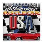 usa musclecars Tile Coaster