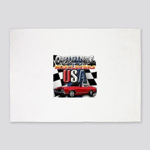 usa musclecars 5'x7'Area Rug