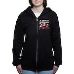 usa musclecars Women's Zip Hoodie