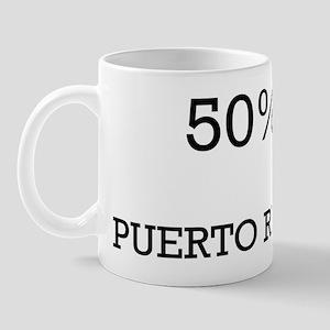 50% Puerto Rican Mug