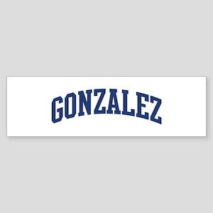 GONZALEZ design (blue) Bumper Sticker