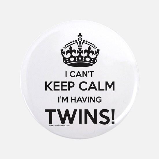 Expectign Twins Button