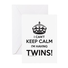 Twin Pregnancy Announcement Greeting Cards