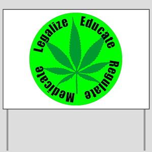 Marijuana 420 Legalize Yard Sign