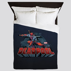 Deadpool Pose Queen Duvet