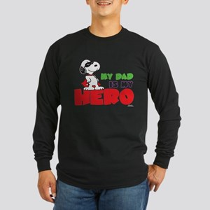 Peanuts: Dad Hero Long Sleeve Dark T-Shirt