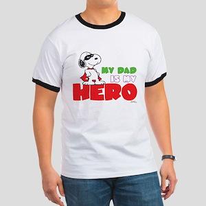 Peanuts: Dad Hero Ringer T