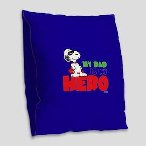 Dad Hero Burlap Throw Pillow