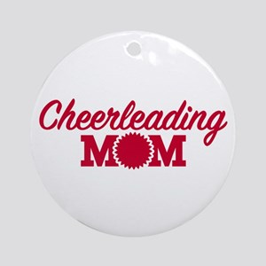 Cheerleading Mom Round Ornament