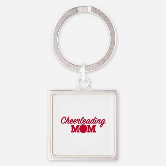 Cheerleading Mom Square Keychain
