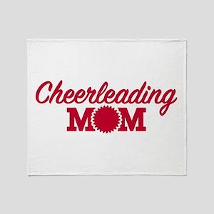 Cheerleading Mom Throw Blanket
