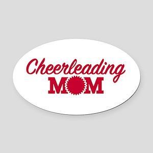 Cheerleading Mom Oval Car Magnet
