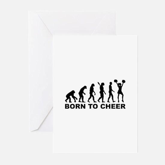 Evolution cheerleading b Greeting Cards (Pk of 20)