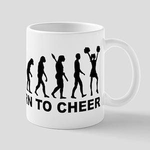 Evolution cheerleading born to cheer Mug