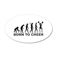 Evolution cheerleading born Wall Decal