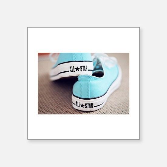 teal blue converse. Sticker