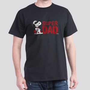 Peanuts: Super Dad Dark T-Shirt