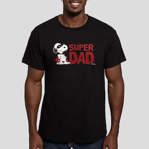 Peanuts: Super Dad Men's Fitted T-Shirt (dark)