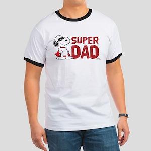 Peanuts: Super Dad Ringer T