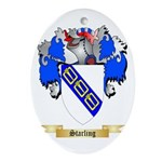 Starling Oval Ornament