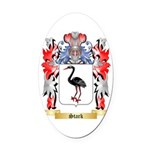 Stark Oval Car Magnet