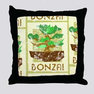 Bonzai Tree Throw Pillow