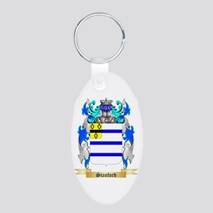 Stanford Aluminum Oval Keychain