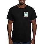 Standing Men's Fitted T-Shirt (dark)