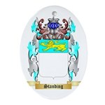 Standing Oval Ornament