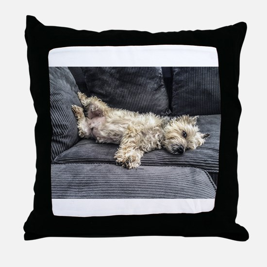 Funny Lazy Throw Pillow