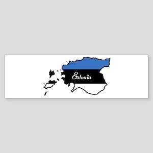 Cool Estonia Bumper Sticker