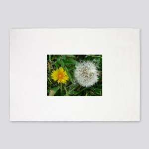 dandelion and puffball 5'x7'Area Rug