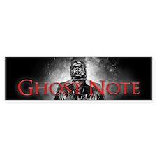 Ghost Note (bumper) Bumper Sticker