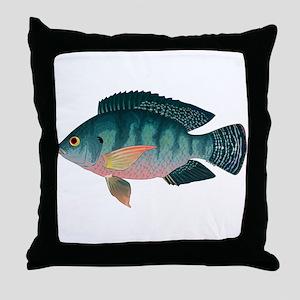 Nile Tilapia Throw Pillow
