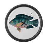 Nile Tilapia Large Wall Clock